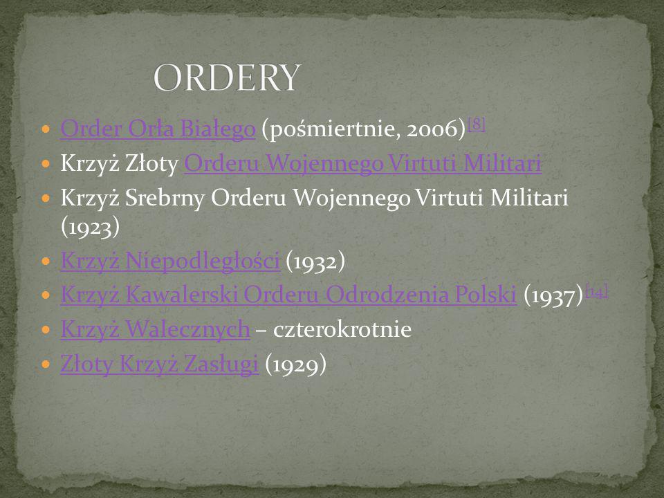 ORDERY Order Orła Białego (pośmiertnie, 2006)[8]